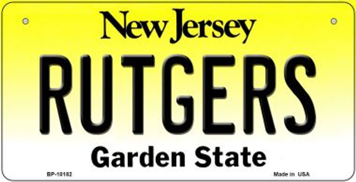 Rutgers New Jersey Novelty Metal Bicycle Plate BP-10182