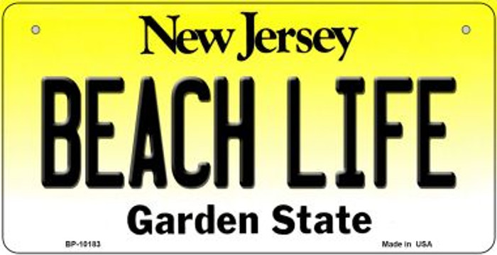 Beach Life New Jersey Novelty Metal Bicycle Plate BP-10183