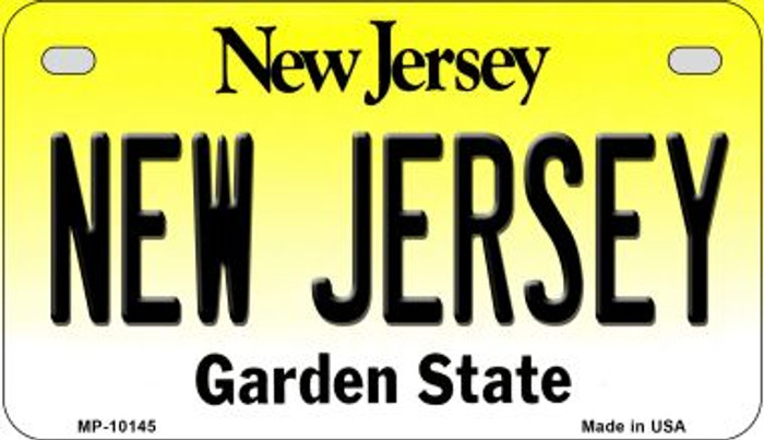 New Jersey Novelty Metal Motorcycle Plate MP-10145