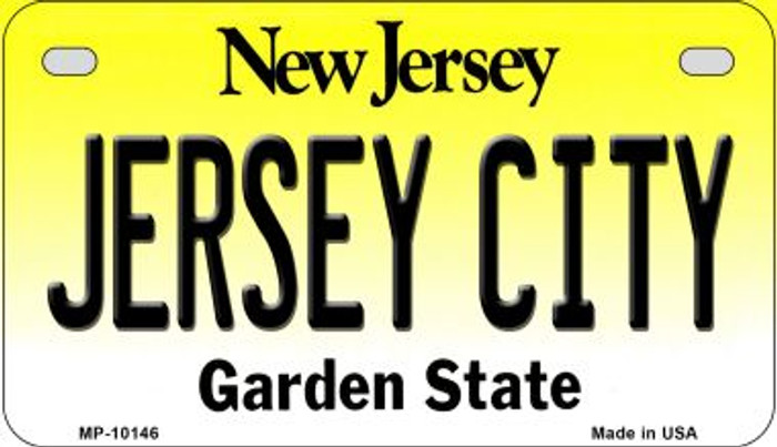 Jersey City New Jersey Novelty Metal Motorcycle Plate MP-10146