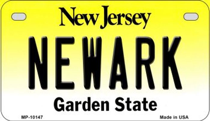 Newark New Jersey Novelty Metal Motorcycle Plate MP-10147