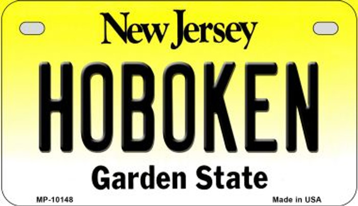 Hoboken New Jersey Novelty Metal Motorcycle Plate MP-10148