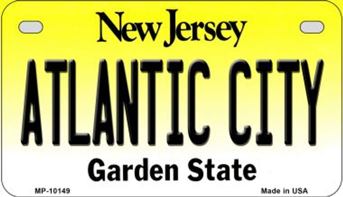 Atlantic City New Jersey Novelty Metal Motorcycle Plate MP-10149