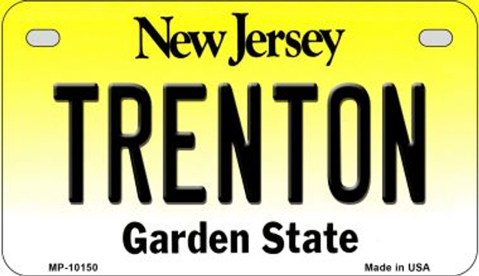 Trenton New Jersey Novelty Metal Motorcycle Plate MP-10150