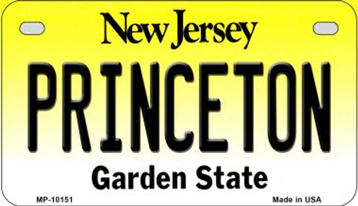 Princeton New Jersey Novelty Metal Motorcycle Plate MP-10151