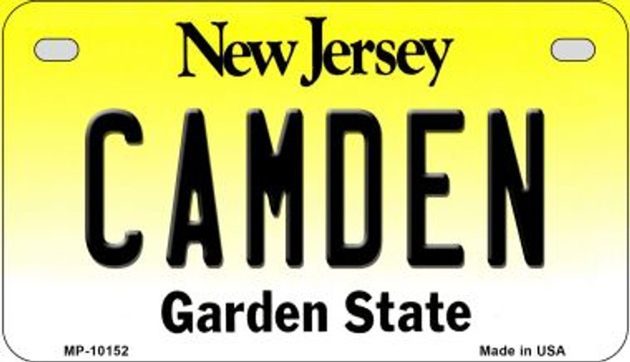 Camden New Jersey Novelty Metal Motorcycle Plate MP-10152