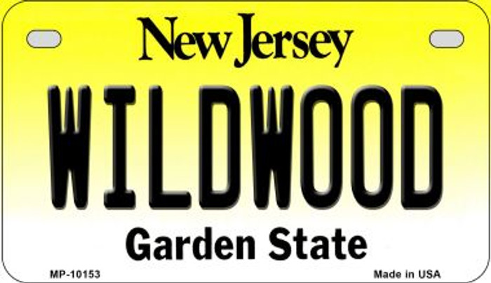 Wildwood New Jersey Novelty Metal Motorcycle Plate MP-10153