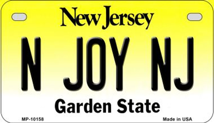 N Joy NJ New Jersey Novelty Metal Motorcycle Plate MP-10158