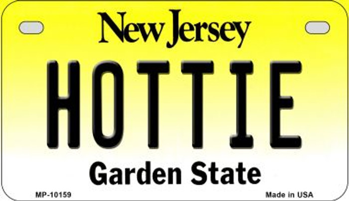Hottie New Jersey Novelty Metal Motorcycle Plate MP-10159