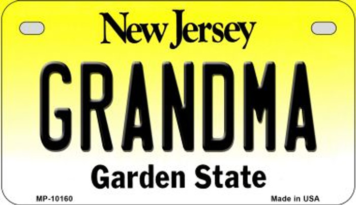 Grandma New Jersey Novelty Metal Motorcycle Plate MP-10160