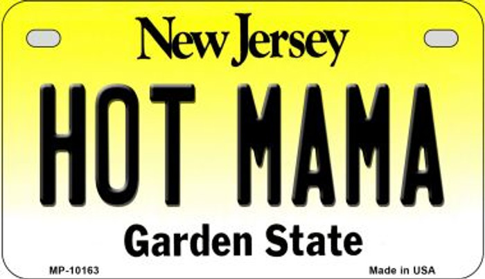 Hot Mama New Jersey Novelty Metal Motorcycle Plate MP-10163