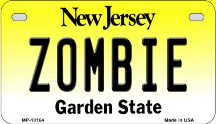 Zombie New Jersey Novelty Metal Motorcycle Plate MP-10164