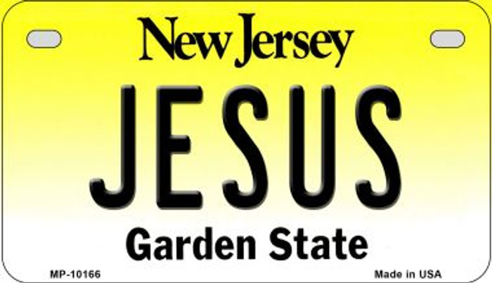 Jesus New Jersey Novelty Metal Motorcycle Plate MP-10166
