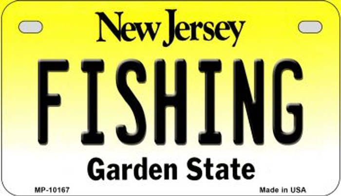 Fishing New Jersey Novelty Metal Motorcycle Plate MP-10167