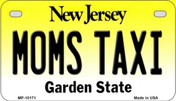 Moms Taxi New Jersey Novelty Metal Motorcycle Plate MP-10171