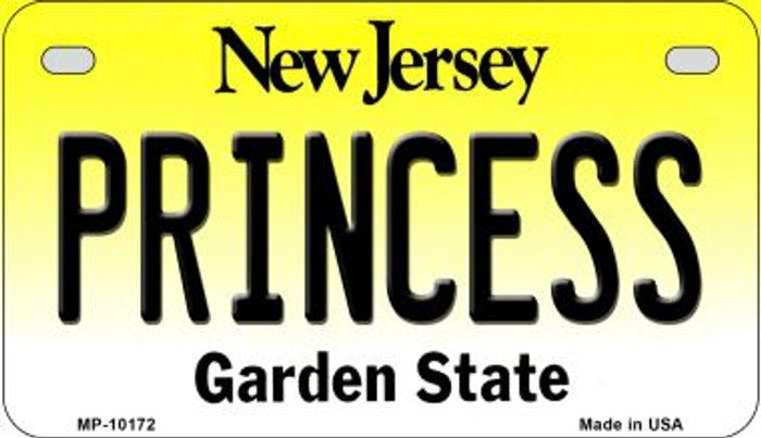 Princess New Jersey Novelty Metal Motorcycle Plate MP-10172