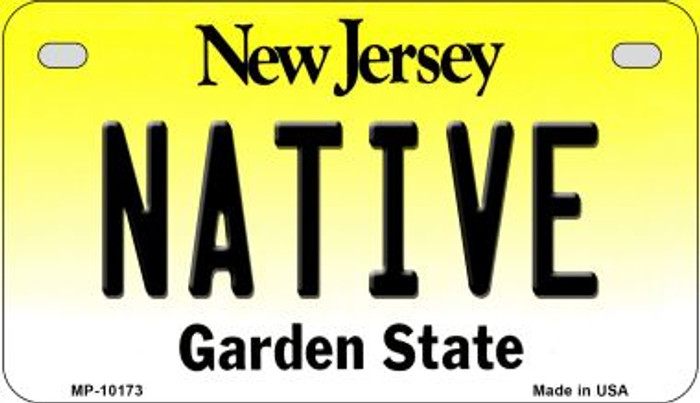 Native New Jersey Novelty Metal Motorcycle Plate MP-10173