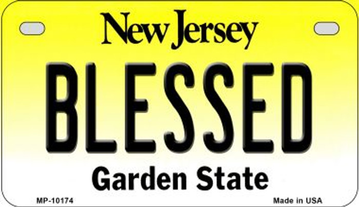 Blessed New Jersey Novelty Metal Motorcycle Plate MP-10174