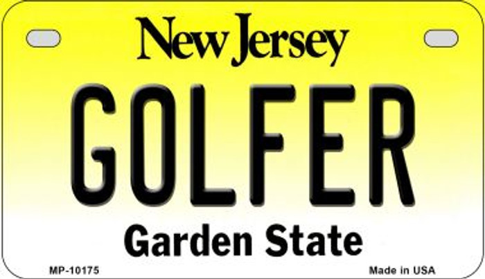 Golfer New Jersey Novelty Metal Motorcycle Plate MP-10175