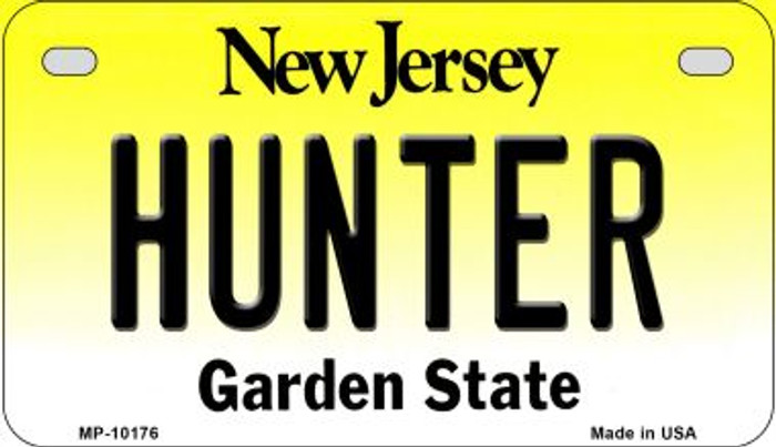 Hunter New Jersey Novelty Metal Motorcycle Plate MP-10176