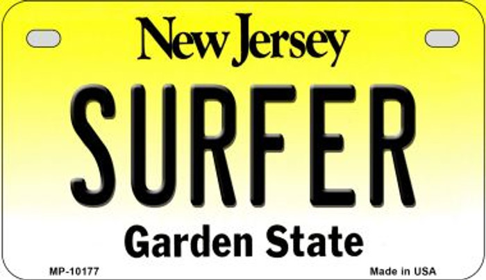 Surfer New Jersey Novelty Metal Motorcycle Plate MP-10177