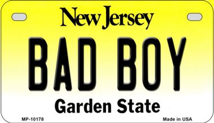 Bad Boy New Jersey Novelty Metal Motorcycle Plate MP-10178