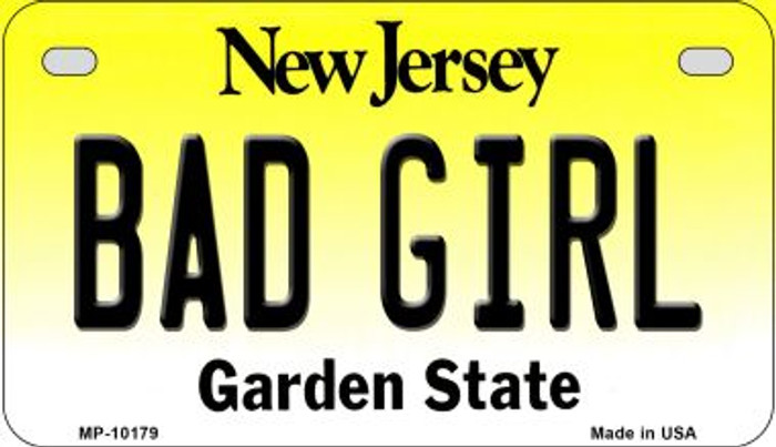 Bad Girl New Jersey Novelty Metal Motorcycle Plate MP-10179