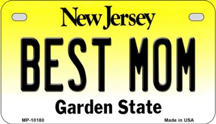 Best Mom New Jersey Novelty Metal Motorcycle Plate MP-10180