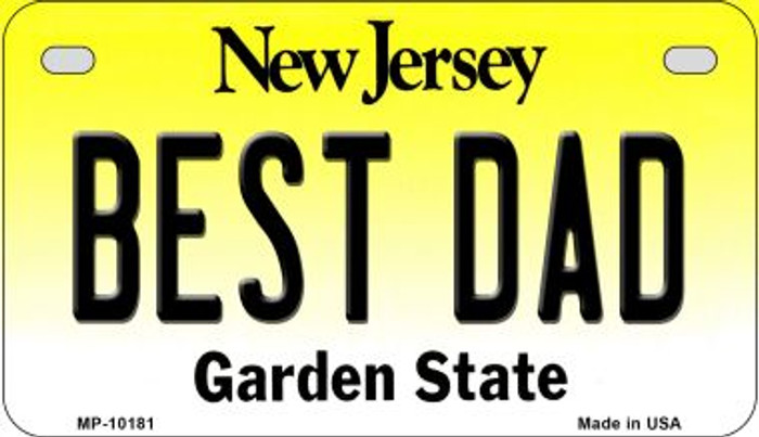 Best Dad New Jersey Novelty Metal Motorcycle Plate MP-10181