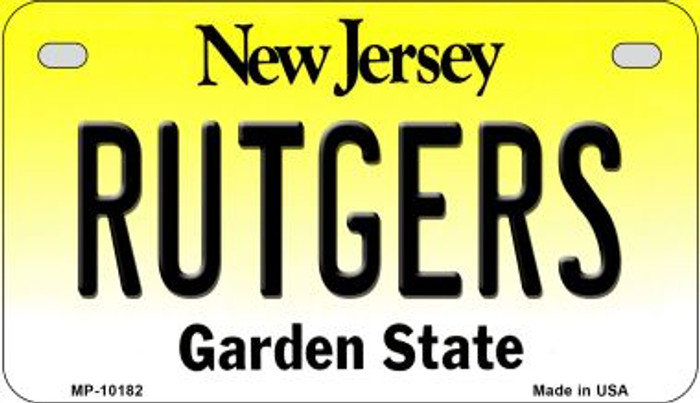 Rutgers New Jersey Novelty Metal Motorcycle Plate MP-10182