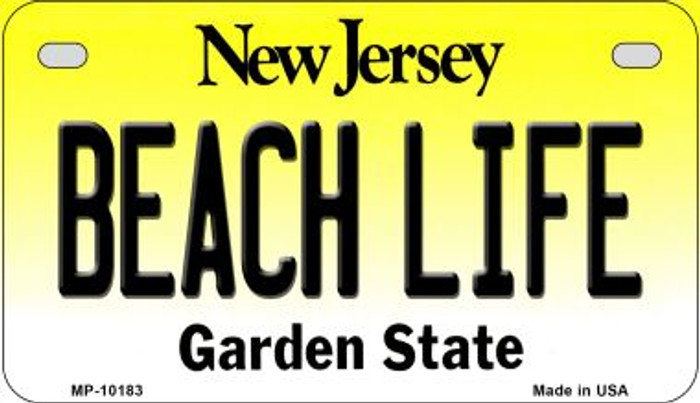Beach Life New Jersey Novelty Metal Motorcycle Plate MP-10183