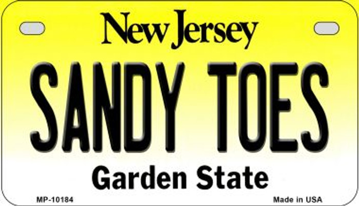 Sandy Toes New Jersey Novelty Metal Motorcycle Plate MP-10184
