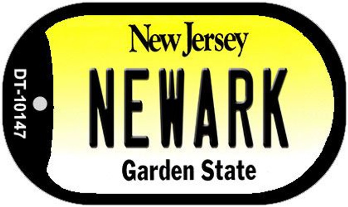 Newark New Jersey Novelty Metal Dog Tag Necklace DT-10147