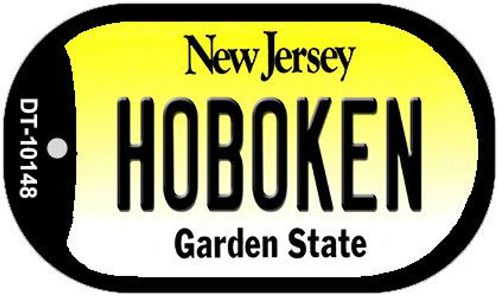 Hoboken New Jersey Novelty Metal Dog Tag Necklace DT-10148