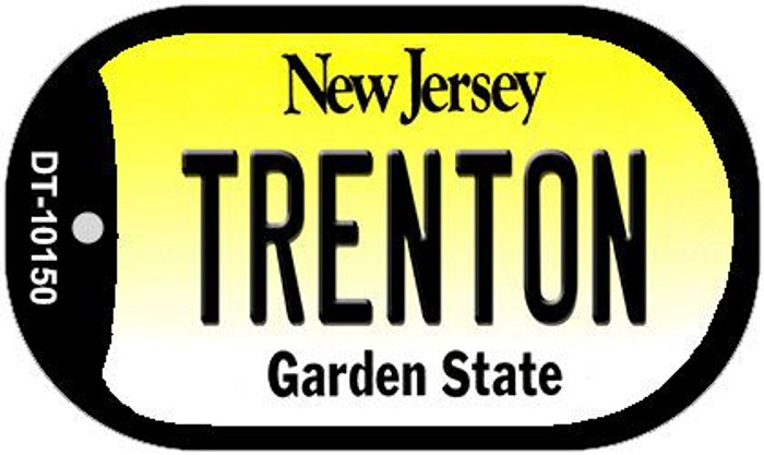 Trenton New Jersey Novelty Metal Dog Tag Necklace DT-10150