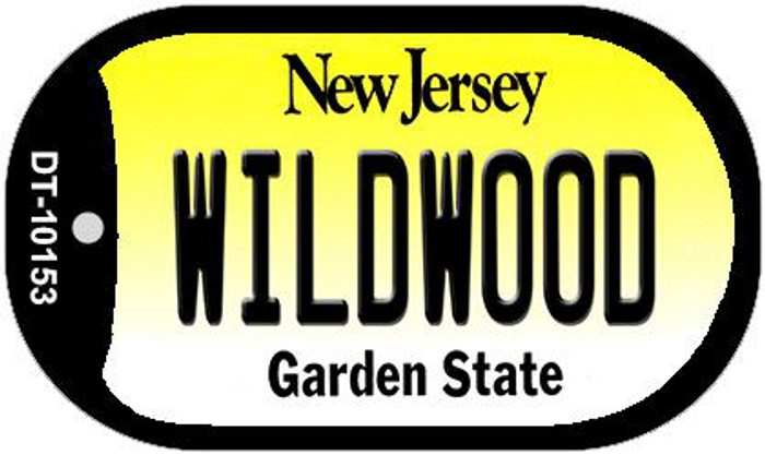 Wildwood New Jersey Novelty Metal Dog Tag Necklace DT-10153