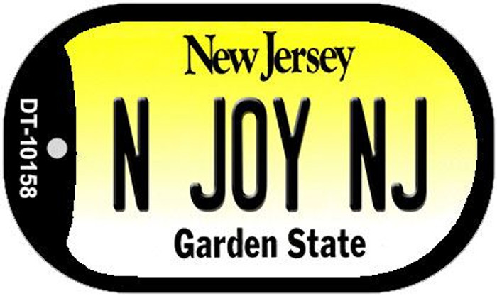 N Joy NJ New Jersey Novelty Metal Dog Tag Necklace DT-10158