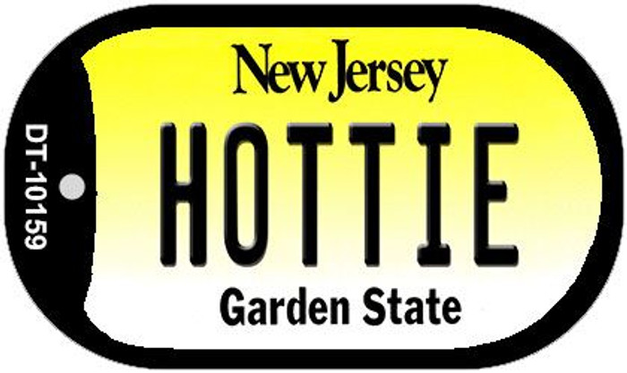 Hottie New Jersey Novelty Metal Dog Tag Necklace DT-10159