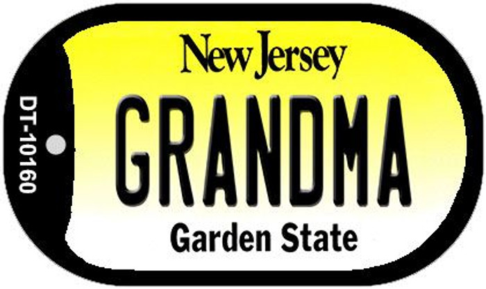 Grandma New Jersey Novelty Metal Dog Tag Necklace DT-10160