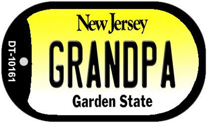 Grandpa New Jersey Novelty Metal Dog Tag Necklace DT-10161