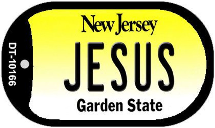 Jesus New Jersey Novelty Metal Dog Tag Necklace DT-10166
