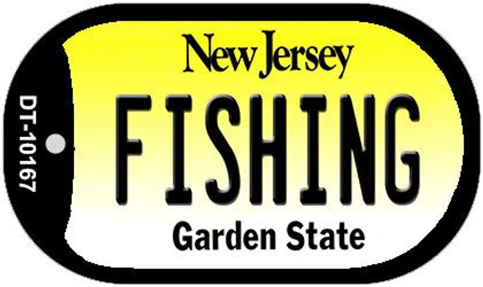 Fishing New Jersey Novelty Metal Dog Tag Necklace DT-10167