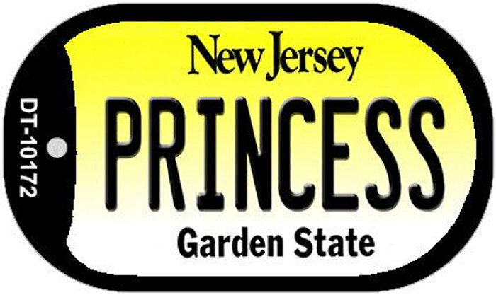 Princess New Jersey Novelty Metal Dog Tag Necklace DT-10172