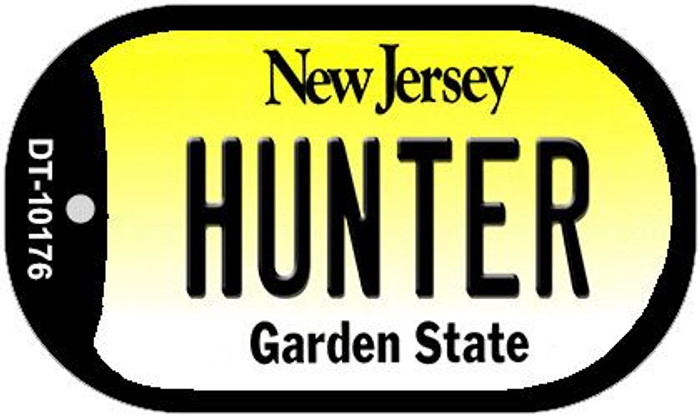 Hunter New Jersey Novelty Metal Dog Tag Necklace DT-10176