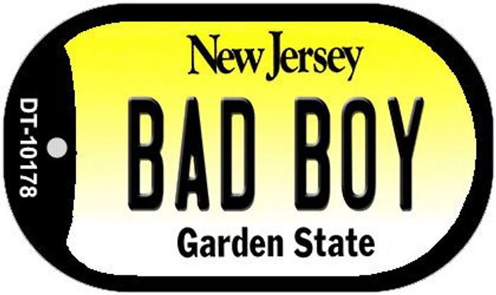 Bad Boy New Jersey Novelty Metal Dog Tag Necklace DT-10178