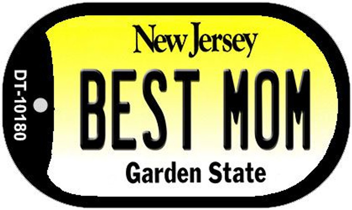 Best Mom New Jersey Novelty Metal Dog Tag Necklace DT-10180