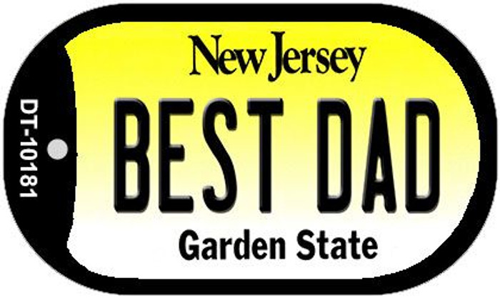 Best Dad New Jersey Novelty Metal Dog Tag Necklace DT-10181