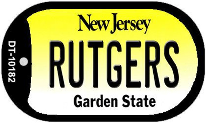 Rutgers New Jersey Novelty Metal Dog Tag Necklace DT-10182