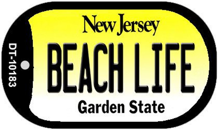 Beach Life New Jersey Novelty Metal Dog Tag Necklace DT-10183