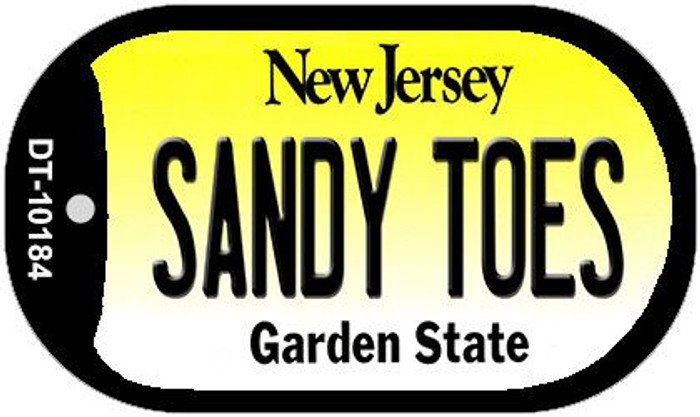 Sandy Toes New Jersey Novelty Metal Dog Tag Necklace DT-10184